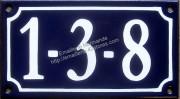 Numéro de rue émaillé, 3 à 7 signes (10x18cm)