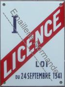 Plaque émaillée Licence I (15x20cm)