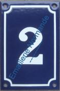 Plaque émaillée, numéro de maison émaillé 15x10cm vertical (entre 0 et 9)
