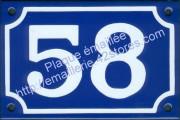 5-1. Numéro de rue (de 43 à 99) émaillé, série limitée vendue en l'état, format 10x15cm. (en stock)