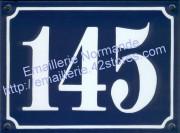 5-3. Plaque émaillée, numéro d'immeuble émaillé (15x20cm) gothique