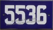 Plaque d'adresse de Montréal PLATE (4 1/2