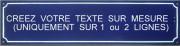 Plaque émaillée avec texte à la demande (12,5x50cm)