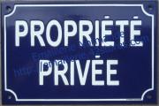 Plaque de rue standard (20x30cm) Propriété privée