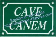 11-4. Plaque émaillée (10x15cm) Cave canem / Attention au chien