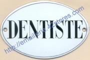 10-2. Plaque émaillée ovale (8x12cm) Dentiste