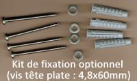 Lot de vis A4 à tête plate 4,8x60mm, rondelles 5,5mm, chevilles POUR ECHELLE DE CRUE (pas pour plaques d'inscription)