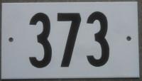 5-5. Plaque d'adresse blanche PLATE (Montréal)