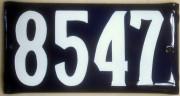 Plaque d'adresse émaillée (Montréal-Villeray) 2 trous de fixation