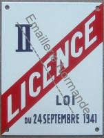 Plaque émaillée Licence II (15x20cm)