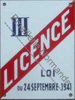 Plaque émaillée Licence III (15x20cm)