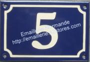 gd plaque de numero de rue bleu ivoire