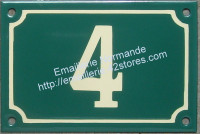 Numéro de rue émaillé ivoire 10x15cm