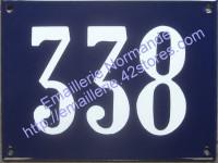 Plaque émaillée, numéro émaillé traditionnel (15x20cm) sans liseré