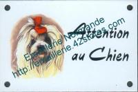 Plaque émaillée (10x15cm) Bichon Maltais