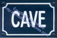 Plaque émaillée (10x15cm) Cave
