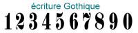 Numéro de rue 15x20cm de 1A à 99TER (Gothique)