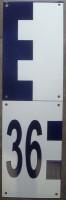 échelle (30cm de large) pour mesurer la hauteur d'eau, graduations positives et mètre NGF ou non