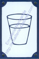 Plaque émaillée (10x15cm) Logo «eau potable»