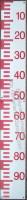 échelle de crue, échelle limnimétrique (mire) NEGATIVE : vendue par éléments de 50cm.