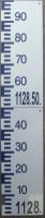 échelle (20cm de large) de mesure de hauteur d'eau, graduations positives et mètre NGF