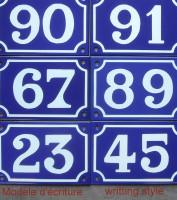 5-1. Numéro de rue (de 44 à 99) émaillé, série limitée vendue en l'état, format 10x15cm. (en stock)