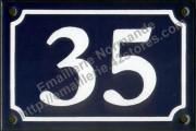 Plaque de rue émaillée 10x15cm ou 10x18cm (voir fiche produit) Nouvelle écriture