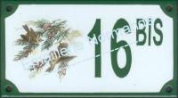 Numéro de rue décoré de 10 à 99 BIS, A... (10x18cm ou 10x15cm)
