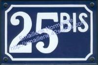Numéro de rue personnalisable, plaque émaillée (10x15 /10x18cm)