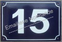 Numéro de rue (20x30cm) écriture Arial
