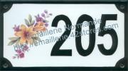 Numéro décoré 10x18cm (modèle)