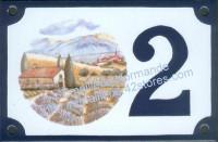 Numéro de rue décoré émaillé : St Rémi de Provence