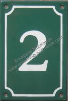 Plaque émaillée, numéro de maison 15x10cm vertical (de 0 à 9) Nouvelle écriture (les photos présentées ne changent pas avec votre commande)