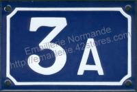 Numéro de rue personnalisable, plaque émaillée (10x15 /10x18cm) (les photos présentées ne changent pas avec votre commande)