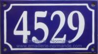 Numéro de rue émaillé 10x18cm (Nouvelle écriture) cliquer sur la photo