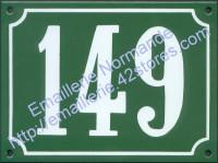 Plaque émaillée, numéro émaillé traditionnel (15x20cm)