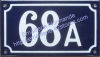 Numéro de rue émaillé + Lettre (10x15cm ou 10x18cm)