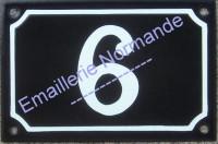 Numéro de rue personnalisable, plaque émaillée (10x15-10x18cm) (les photos présentées ne changent pas avec votre commande)