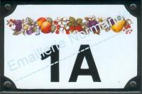 Numéro de rue décoré, chiffre + BIS, TER, A, B...