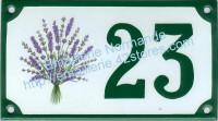 Numéro de rue décoré : Bouquet de Lavande