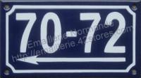 2 numéros de rue émaillé 10x15cm ou 10x18cm avec flèche