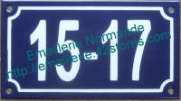 Plaque émaillée numéro de rue émaillé avec chiffres séparés 10x18cm