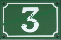 Numéro de maison personnalisable, plaque émaillée (10x15-10x18cm)