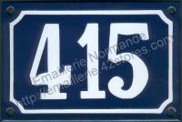 Numéro de rue émaillé 3 chiffres 10x15cm ou 10x18cm (voir notice)