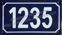 numéro de voirie émaillé 10x18cm b