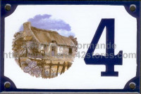Numéro de rue décoré émaillé : Douce Bretagne