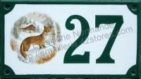 Numéro de rue décoré émaillé : Renard