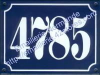 Numéro d'immeuble émaillé traditionnel (15x20cm) écriture gothique