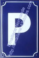 3- Plaque émaillée standard (30x20cm) Parking