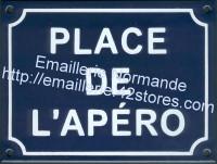 Plaque standard (15x20cm) Place de l'Apéro